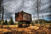 """Rosten die deutschen Bitcoin-Mining-Geräte bald auch so wie diese alte Lore? """"Old Mining Cart"""" von Utah, Salt Lake City via flickr.com. Lizenz: Creative Commons 2.0"""