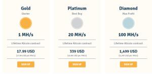 genesis mining price