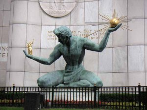 """""""One of the 3 interesting things to look at in Detroit"""" von Laughlin Elkind via flickr.com. Lizenz: Creative Commons"""