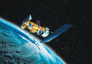 spac0556: Graphic of NOAA-N polar-orbiting spacecraft. Bild von NOAA Photo Library via flickr.com. Lizenz: Creative Commons
