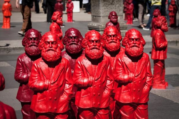 Würde sich höchstwahrscheinlich tobend im Grabe drehe und wenden: Karl Marx. Bild von Pierre Wolfer via flickr.com. Lizenz: Creative Commons