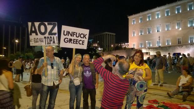 """Unfuck Greece"": Demo gegen Austerität in Athen. Bild von: Alehins, via flickr.com. Lizenz: Creative Commons"