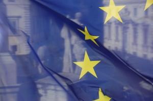 """""""The EU Flag and Castor and Pollux"""" von bob via flickr.com. Lizenz: Creative Commons"""
