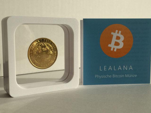 Bitcoin Goldmünze