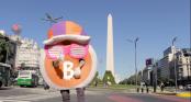 Mr. Bitcoin, das Maskottchen der Bitcoin-Szene Argentiniens