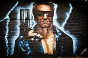 The Terminator - Street Art. Bild von Garry Knight via flickr.com. Lizenz: Creative Commons